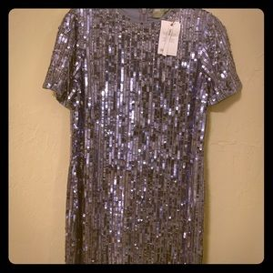 Asos design mini shift sequin dress